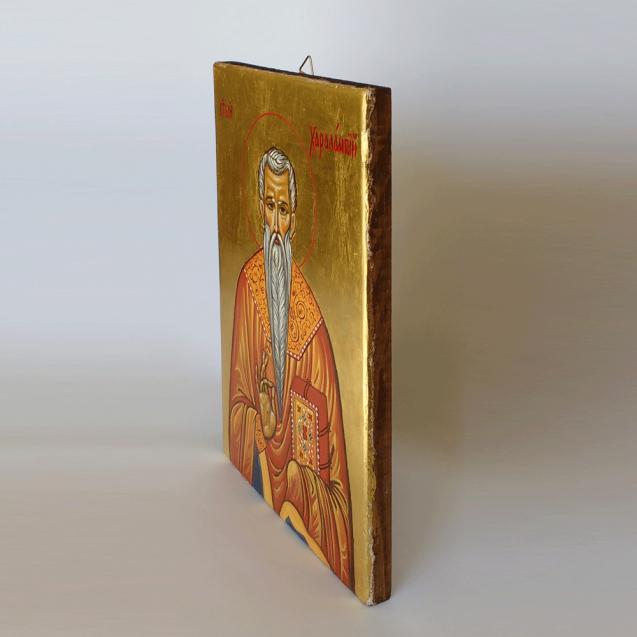 Hand-painted Icon Saint Haralampii