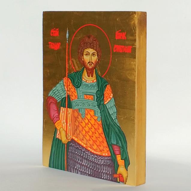 Hand-painted Icon Saint Theodor Stratilat